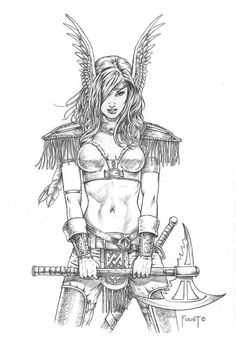 http://i1185.photobucket.com/albums/z351/Madam_Valkyrie/Fantasy%20Art%20-%20Knights%20and%20Warriors/Inga_by_MitchFoust_zps22241635.jpg~original Más