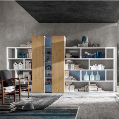 Big And Beautiful Kane Bookshelf Wooden Contemporary Modern Design By My Italian Living
