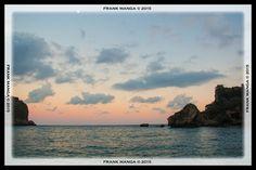 Tramonto a Isola Bella. #frankmanga per Villla Almoezia a Taormina, Sicily #villaalmoezia: Charming b&b