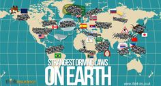 The Strangest Driving Laws On Earth [infographic]