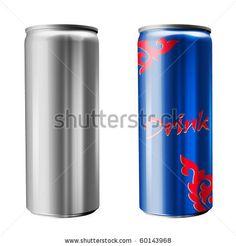 Slim soda can (isolated on white background) - stock photo