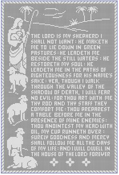 The 23rd Psalm Thread Filet Crochet Panel Pattern  by basilcat53