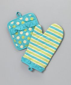 Take a look at this Marina Oven Mitt & Pot Holder by Whim on #zulily today!