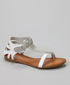 Show off toes with this dashingly posh sandal. A shiny metallic strap and two-tone details create chic, showy style. Beautiful Sandals, Cute Sandals, Cheap Shopping, Gladiator Sandals, Fashion Accessories, Footwear, Chic, My Style, Womens Fashion