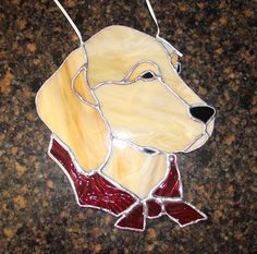 Stained Glass Golden Retriever Dog