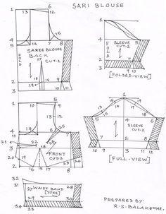 Drafting saree and blouse                                                       …