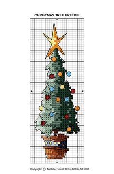 Freebie by Michael Powell Cross stitch art. Xmas Cross Stitch, Cross Stitch Christmas Ornaments, Cross Stitch Bookmarks, Cross Stitch Needles, Cross Stitch Cards, Counted Cross Stitch Patterns, Cross Stitch Designs, Cross Stitching, Cross Stitch Embroidery