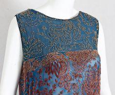 #2584 Beaded devoré velvet flapper dress at VintageTextile.com