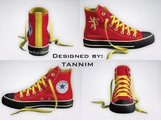 Ready for IMMEDIATE Shipping: House Lannister Converse by Tannim