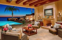 The couple from The Real Housewives of Beverly Hills are selling their unreal Malibu, CA, mansion for a cool $24.9 million. The indoor-outdoor living space overlooks their drool-inducing infinity pool and view of the ocean.  Source: Chris Cortazzo