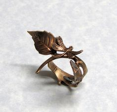 Fairy Tale of dragonflies Forest Ring by ranaway on Etsy