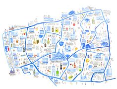 "this map was made for the project ""blue moscow"". it is alcohol map with aguide and a souvenier raincoat."