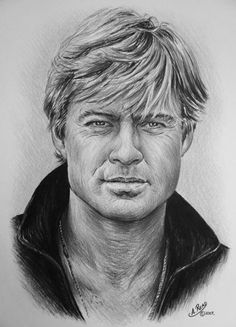 Robert Redford by Andrew Read ~ colored pencils on Canford Card Portrait Au Crayon, Pencil Portrait, Portrait Art, Painting Portraits, Paintings, Celebrity Drawings, Celebrity Caricatures, Celebrity Portraits, Pencil Art