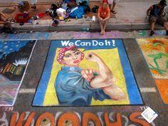 Youth Challenge High School Team Denver Chalk Art Festival.  #DenverHeartsTheArts