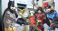 What's going on at the Batcave when Alfred isn't home.  #batman #batboys  I'm sorry for not being on lately. I got a new phone and I needed to switch stuff over. Sorry. :/