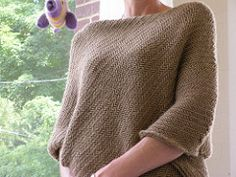 """Pattern description from Last Minute Knitted Gifts: """"The poncho has made a comeback on the fashion scene, which is great news for gift knitters since this versatile garment fits just about everybody. This one is made with a wonderful blend of alpaca and merino wool that I find to be as luxurious as cashmere (but much less expensive). It is worked on large needles in order to create a warm, but not too dens, fabric that drapes beautifully."""""""