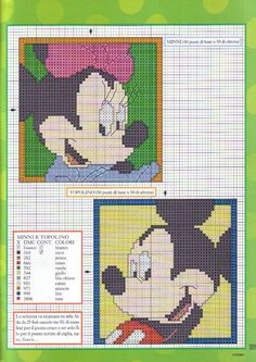 Disney characters rectangles in frame picture - free cross stitch patterns crochet knitting amigurumi Needlepoint Patterns, Cross Stitch Patterns, Crochet Patterns, Disney Crafts, Disney Fun, Mickey E Minnie Mouse, Stitch Disney, Plastic Canvas Patterns, Disney Inspired