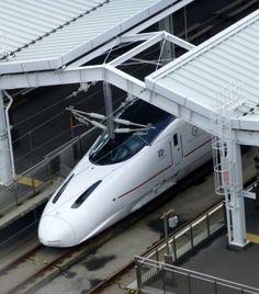 Kyushu Shinkansen (800 series) @ Kagoshima, Japan Police Station, Train Station, Japan Train, Train Museum, Kagoshima, Kyushu, By Train, Bus Stop, Train Travel