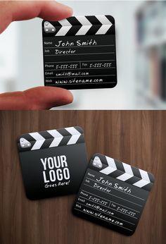 Cute film maker business card