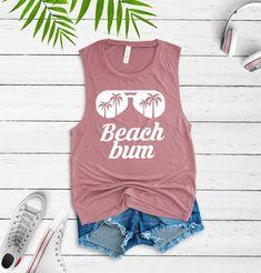 beach tank sunglasses tank vacation tank beach bum tank beach vacation tank tropical vacation tank top gift for beach lover by Gold Outfit, Beach Tanks, Beach Shirts, Mermaid Shirt, Vinyl Shirts, Beach Bum, Beach Trip, Summer Beach, Summer Fun