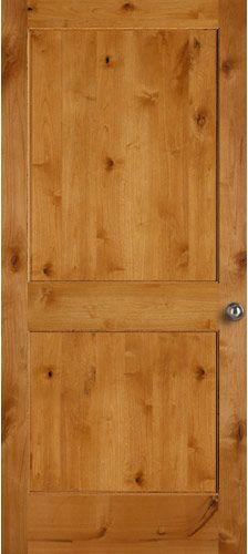 Prefinished Clear A3 Knotty Alder door from Bayer Built