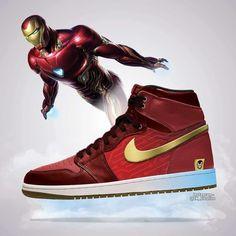 Artist CK_creative shared some cool Avengers: Endgame Air Jordans designs featuring Iron Man, Thanos and Dr Shoes, Nike Air Shoes, Hype Shoes, Nike Air Jordans, Air Jordan Shoes, Marvel Shoes, Marvel Clothes, Zapatillas Jordan Retro, Sneaker Art
