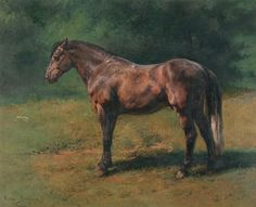 Cave to Canvas, Rosa Bonheur, Cheval gris au vert, c. 1822-99.  I love Rosa! She's my favorite and a gutsy as hell woman to boot!   She went in drag as a boy to the Sorbonne to learn painting.