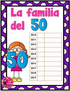 Decimos que dos o más números, con el mismo número de dígitos, son miembros de la misma familia, cuando dos de dichos números tienen al menos un dígito común. Por … Decimal, Grade 1, Worksheets, Preschool, Bullet Journal, Education, Reading, Inspired, Tens And Units