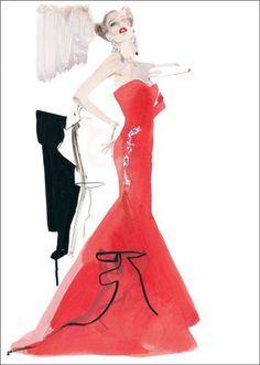 Fashion illustrations by David Downton