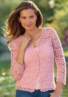 Crochet women summer jacket pattern, cardigan
