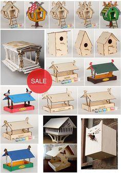 12 Wooden birdhouse plywood birdhouse birdhouse cnc