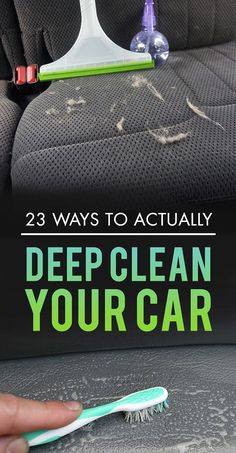 23 Ways To Actually Deep Clean Your Car || J.A. Montenegro y MaryGaby Taylor ya saben :P