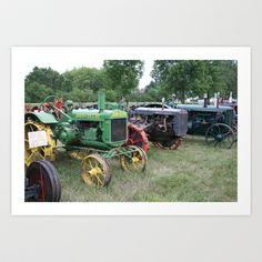 Vintage Tractors Art Print by Andrea Jean Clausen - $17.68