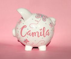 Baby Piggy Banks, Pigs, Color Show, All The Colors, Paint Colors, Bb, Cricut, Gift Wrapping, Butterfly