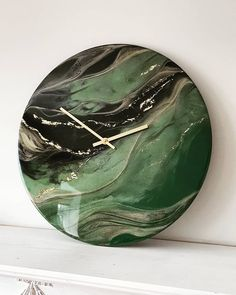 It's always such a delight and a privilege to make something unique and special for someone's home. Mixed media art clocks, available on… Resin Wall Art, Epoxy Resin Art, Diy Resin Art, Resin Artwork, Diy Resin Crafts, Acrylic Resin, Acrylic Art, Acrylic Pouring Art, Diy Clock