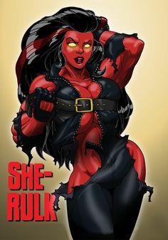 red she hulk Hulk Comic, Hulk Marvel, Marvel Comic Books, Marvel Dc Comics, Marvel Heroes, Marvel Characters, Comic Art, Avengers, Comic Pics