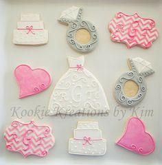 Bridal shower cookies - Kookie Kreations by Kim