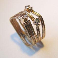 rings - P 46 - Ring: gold, diamonds