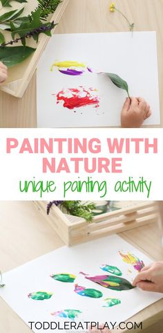 Painting with Nature Activity - Toddler at Play