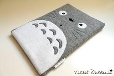 Funda Totoro para iPad air / iPad air case / tablet por VioletDesvarie. Cierre solapa.