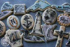 vintage watercolor painted custom sugar cookies