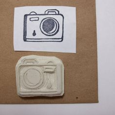 My Little Camera - Hand Carved Rubber Stamp