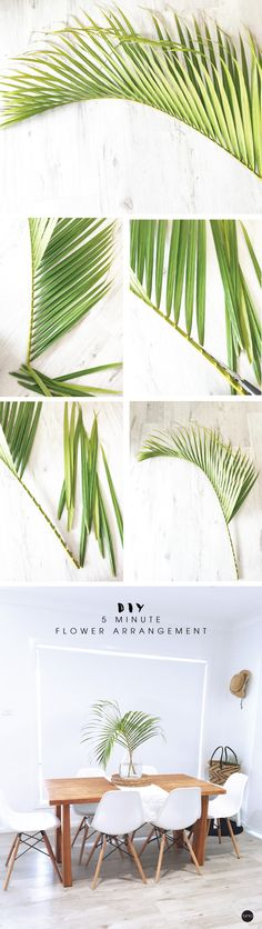 Need a quick flower arrangement? Try this super simple, modern palm leaf flower arrangement. Youcan make in 5 mins.  It's super simple to make. How to make a modern palm branchflower …