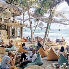 There is Beach Club Bali Outdoor Cafe, Outdoor Restaurant, Beach Restaurant Design, Restaurant Entrance, Tulum, Strand Design, Finns Beach Club, Lamai Beach, 3d Foto