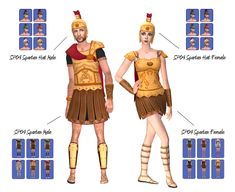 """mdpthatsme: """" THIS IS FOR SIMS Spartan """"This includes both costumes and helmet. The Helmet/Hat can be found in Hair->Custom. This is Teen-Elder thanks to my cc buddy. The Sims 2, Sims Cc, 2 Halloween Costumes, Great Inventions, Ancient Greece, Costume Dress, Teen, Greek Gods, Samhain"""
