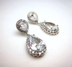 bridal Jewelry bridal earrings wedding earrings by DesignByKara on Etsy.