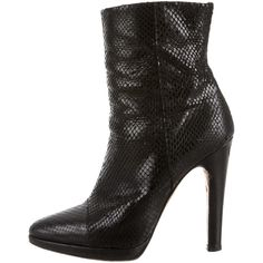 Pre-owned Giuseppe Zanotti Ankle Boots (340 AUD) ❤ liked on Polyvore featuring shoes, boots, ankle booties, black, black ankle booties, black bootie, black shootie, black boots and black zipper booties