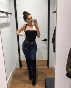 """17.3k Likes, 151 Comments - edith (@bbyedith) on Instagram: """"holaa bebes  bodysuit & jeans from @fashionnova  (xoedith) for $$ off"""""""