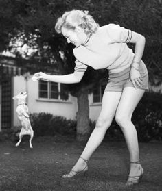 Marilyn Monroe playing with her pet #chihuahua #dogs #love