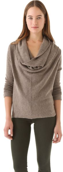 Draped Cowl Sweater